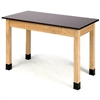 "NPS Science Lab Table - Phenolic Top - Plain Front - 24"" x 72""<br> (National Public Seating NPS-PSLT2472)"