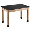 "NPS Science Lab Table - High Pressure Laminate Top - Plain Front - 30""W x 72""D (National Public Seating NPS-HSLT3072)"