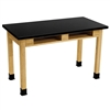 "NPS Science Lab Table 36""H - Phenolic Top - Dual Book Compartment - 24"" x 48""<br> (National Public Seating NPS-PSLT2448-36-BC)"