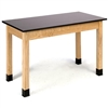 "NPS Science Lab Table 36""H - Phenolic Top - Plain Front - 24"" x 48""<br> (National Public Seating NPS-PSLT2472-36)"