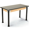 "NPS Adjustable Science Lab Table - Chem-Res Top - Plain Front - 24"" x 54""<br> (National Public Seating NPS-SLT2454AH-10)"