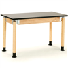 "NPS Adjustable Science Lab Table - Chem-Res Top - Plain Front - 30"" x 60""<br> (National Public Seating NPS-SLT3060AH-OK)"