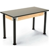 "NPS Adjustable Science Lab Table - Chem-Res Top - Plain Front - 24"" x 48""<br> (National Public Seating NPS-SLT2448AH-10)"
