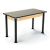 "NPS Adjustable Science Lab Table - Chem-Res Top - Plain Front - 24"" x 72""<br> (National Public Seating NPS-SLT2472AH-10)"
