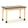 "NPS Adjustable Science Lab Table - Chem-Res Top - Plain Front - 24"" x 54""<br> (National Public Seating NPS-SLT2454AH-OK)"