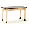 "NPS Adjustable Science Lab Table - Chem-Res Top - Plain Front - 24"" x 60""<br> (National Public Seating NPS-SLT2460AH-OK)"