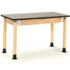 "NPS Adjustable Science Lab Table - Chem-Res Top - Plain Front - 24"" x 72""<br> (National Public Seating NPS-SLT2472AH-OK)"