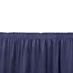 NPS Shirred-Pleat Skirting for 16 inch H Stage  (National Public Seating NPS-SS16)