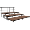 "NPS 3 Level Riser - 18""W x 96""L x 8""H and 18""W x 96""L x 16""H and 18""W x 96""L x 24""H Hardboard  (National Public Seating NPS-SST48HB)"