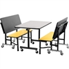 "NPS ToGo Booth Set, (1) 24""x48"" Table and (2) 48"" Benches, MDF Core"
