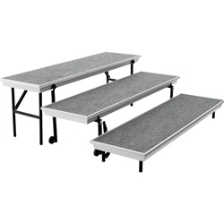 "NPS TransPort 3-Level Straight Riser - 18""W x 72""L  (National Public Seating NPS-TP72)"