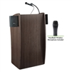 Oklahoma Sound Vision Lectern with Sound & Wireless Handheld Mic, Ribbonwood<br> (Oklahoma Sound OKL-611S-RW-LWM-5)