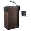 Oklahoma Sound Vision Lectern with Sound and Rechargeable Battery, Ribbonwood<br> (Oklahoma Sound OKL-M611S-RW)