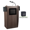 Oklahoma Sound Vision Lectern with Sound & Screen and Rechargeable Battery, Ribbonwood<br> (Oklahoma Sound OKL-M612S-RW)