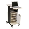 Oklahoma Sound Premium Plus Presentation Cart with Storage Cabinet (Oklahoma Sound OKL-PRC-250)