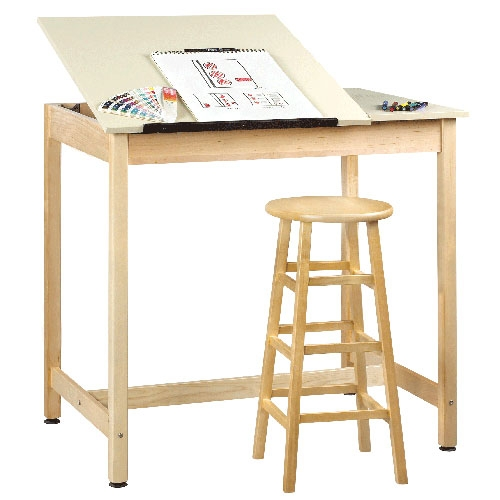 Exceptionnel Shain Split Top Art U0026 Drafting Table W/o Board Storage (Shain SHA
