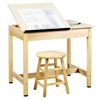 "Shain Split-Top Art/Drafting Table - 36""W x 30""H (Shain SHA-DT-9SA30)"