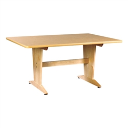 Shain Extra Large Planning Table w/ Natural Birch Laminate Top (Shain SHA-PT-7248PNB)
