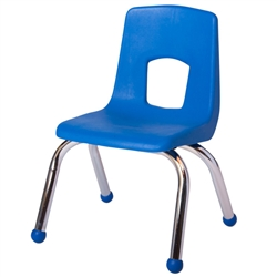 "SchoolOutlet Preschool Chair with Chrome Legs 12"" Seat Height"