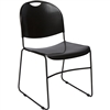 SchoolOutlet High Density Stack Chair, Black Chair & Frame - Ships Today