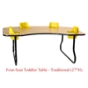 "Four-Seat Toddler Table - Traditional (27"" H)  (Toddler Tables TOD-TT427)"