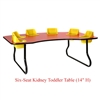 "Six-Seat Kidney Toddler Table (14"" H)  (Toddler Tables TOD-TT614)"