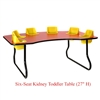"Six-Seat Kidney Toddler Table (27"" H)  (Toddler Tables TOD-TT627)"
