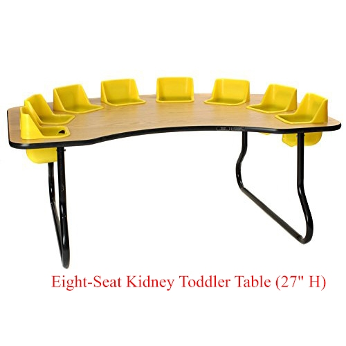 Eight Seat Kidney Toddler Table
