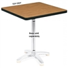 "Virco U3030 - Square 30"" x 30"" cafe Top Only (Base Sold Separately), 1 1/8"" thick high pressure laminate  (Virco U3030)"