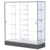 "Waddell Colossus 2605 Floor Case w/ White Back & Anodized Aluminum Frame - 60""W x 66""H x 20""D<br>(Waddell WAD-2605-WB)"