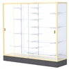"Waddell Colossus 2605 Floor Case w/ White Back & Anodized Aluminum Frame - 72""W x 66""H x 20""D<br>(Waddell WAD-2606-WB)"