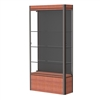 "Waddell Contempo 601 Lighted Floor Case w/ Black Back & Cherry Base - 36""W x 72""H x 14""D<br>(Waddell WAD-601-BB-CHY)"