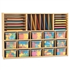 Young Time Sectional Cubbie Storage With Clear Trays - Ready-to-Assemble (Young Time YOU-7032YT)