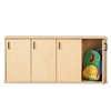 Young Time 4-Section Stackable Locker with Doors - Ready-to-Assemble (Young Time YOU-7107YT)