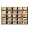 Young Time 25 Tray Cubbie Storage With Clear Trays - Ready-to-Assembled (Young Time YOU-7141YT)
