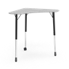 Virco ZBOOMCM - ZUMA Series Adjustable Height Hard Plastic Top Mobile Collaborative Desk