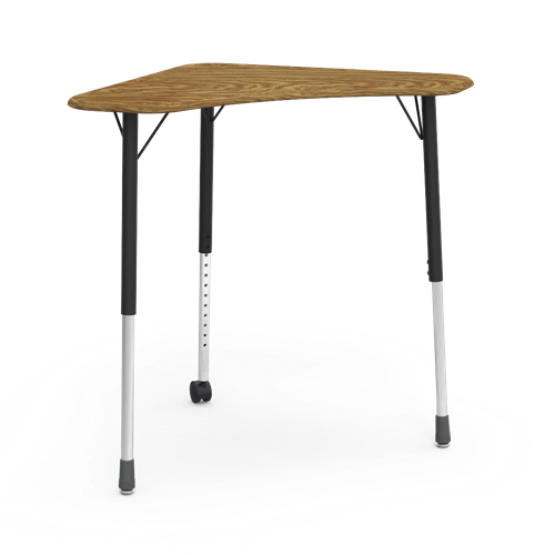 Zuma Series Adjustable Height Hard Plastic Top Mobile Collaborative Desk
