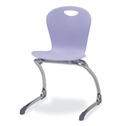 "Virco ZCANT15 - ZUMA® Series Cantilevered Legged Ergonomic Chair, Contoured Seat/Back - 15"" Seat Height  (Virco ZCANT15)"