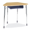 Virco ZHEXBOXM - Zuma Student Desk, Trapezoid Top for 6-Desk Groupings, Book Box  (Virco ZHEXBOXM)