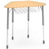 Virco ZHEXBRM - ZUMA® Student Desk, Trapezoid Top for 6-Desk Groupings, Book Basket  (Virco ZHEXBRM)