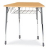 Virco ZOCTBRM - ZUMA® Student Desk, Trapezoid Top for 8-Desk Groupings, Book Basket  (Virco ZOCTBRM)