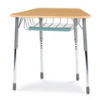 Virco ZOCTBRTM - ZUMA® Student Desk, Trapezoid Top for 8-Desk Groupings, Book Basket & Pencil Tray  (Virco ZOCTBRTM)