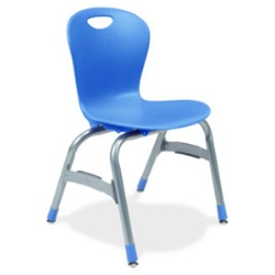 "Virco ZU415 - Zuma Series 4-Legged Ergonomic Chair, Contoured Seat/Back - 15"" Seat Height  (Virco ZU415)"