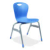 "Virco ZU418 - Zuma Series 4-Legged Ergonomic Chair, Contoured Seat/Back - 18"" Seat Height  (Virco ZU418)"