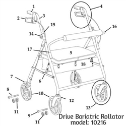 Heavy-Duty Bariatric Rollator