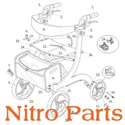 Parts for Drive 10266 Nitro Rollator