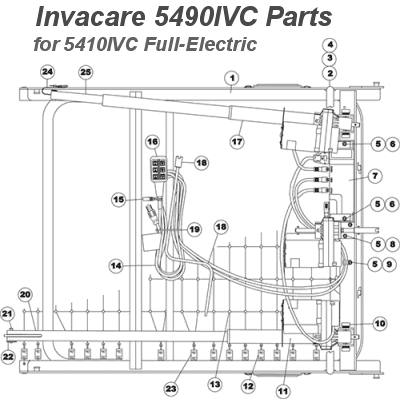 [ZTBE_9966]  Replacement Parts for Invacare Full-Electric IVC Beds | 5490 Parts | Hospital Bed Remote Control Wiring Diagrams |  | Preferred Health Choice