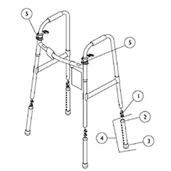 Parts for Invacare Dual Release Walker