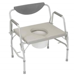 Bariatric Bedside Commode w/Drop Arms