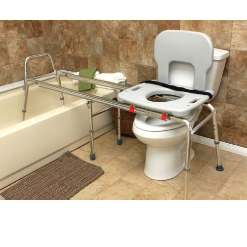 Toilet to Tub Sliding Transfer Bench Eagle 77983 - Extra Long ...